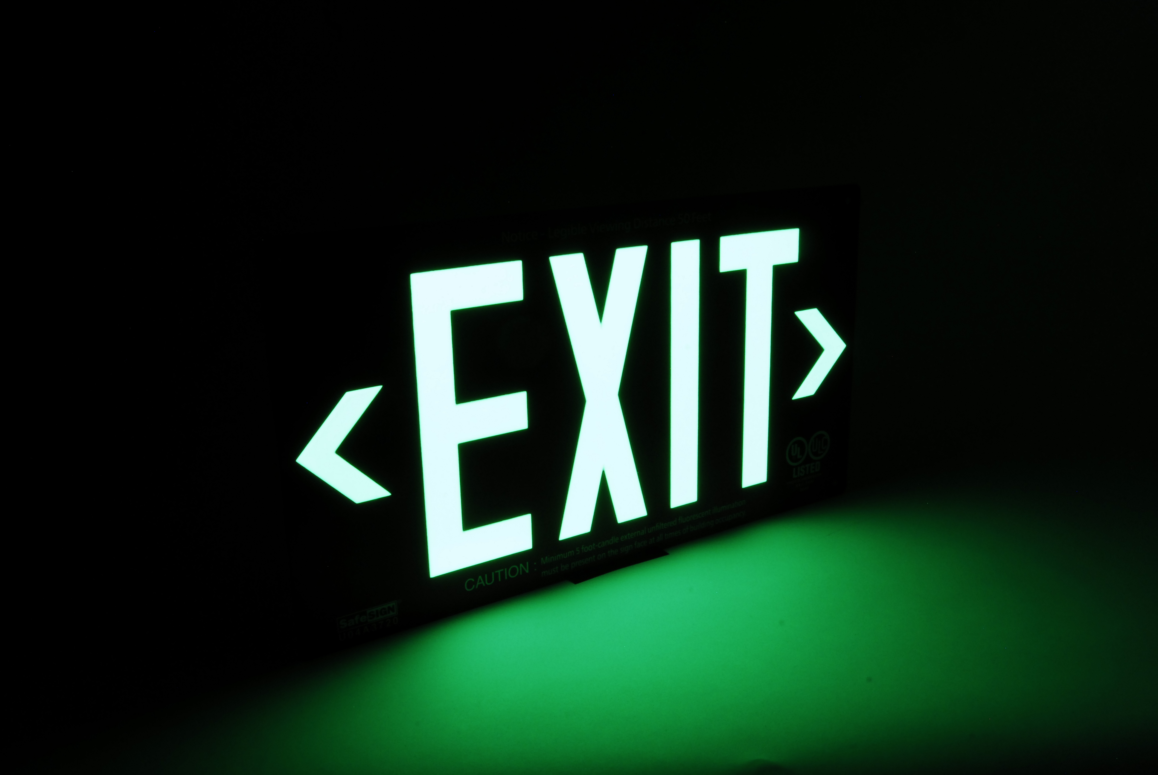 Fire Exit Sign Installation